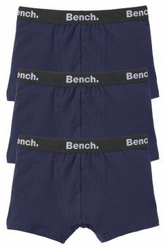 bench. boxershort met logo-weefband (set, 3 stuks) blauw