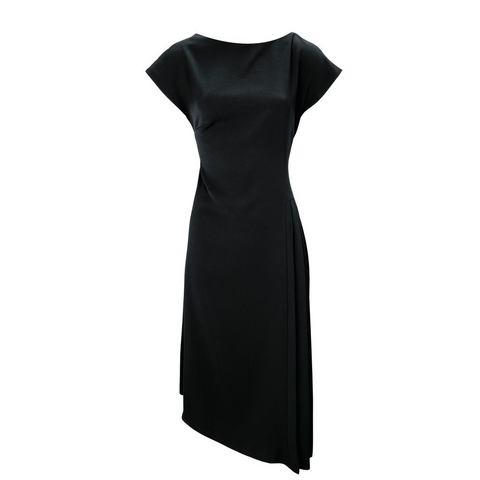 jurk met ronde hals zwart