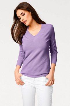 pullover met v-hals paars