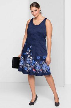 sheego style sheego style jurk blauw