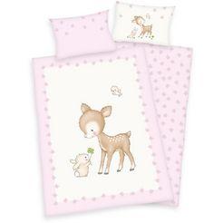 herding baby-overtrekset jana ree met motief (2-delig) roze