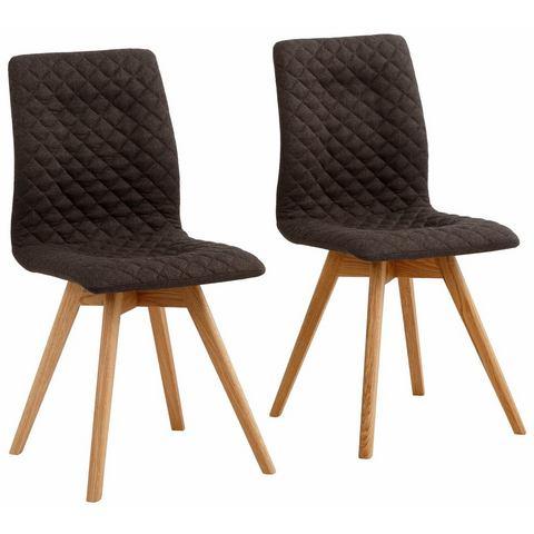 andas stoelen Rania, in set van 2, 4 of 6, met fijn ruitstiksel