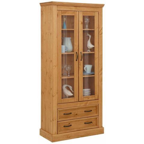 Home affaire vitrinekast Selma, hoogte 180 cm, met mooie houtnerfstructuur