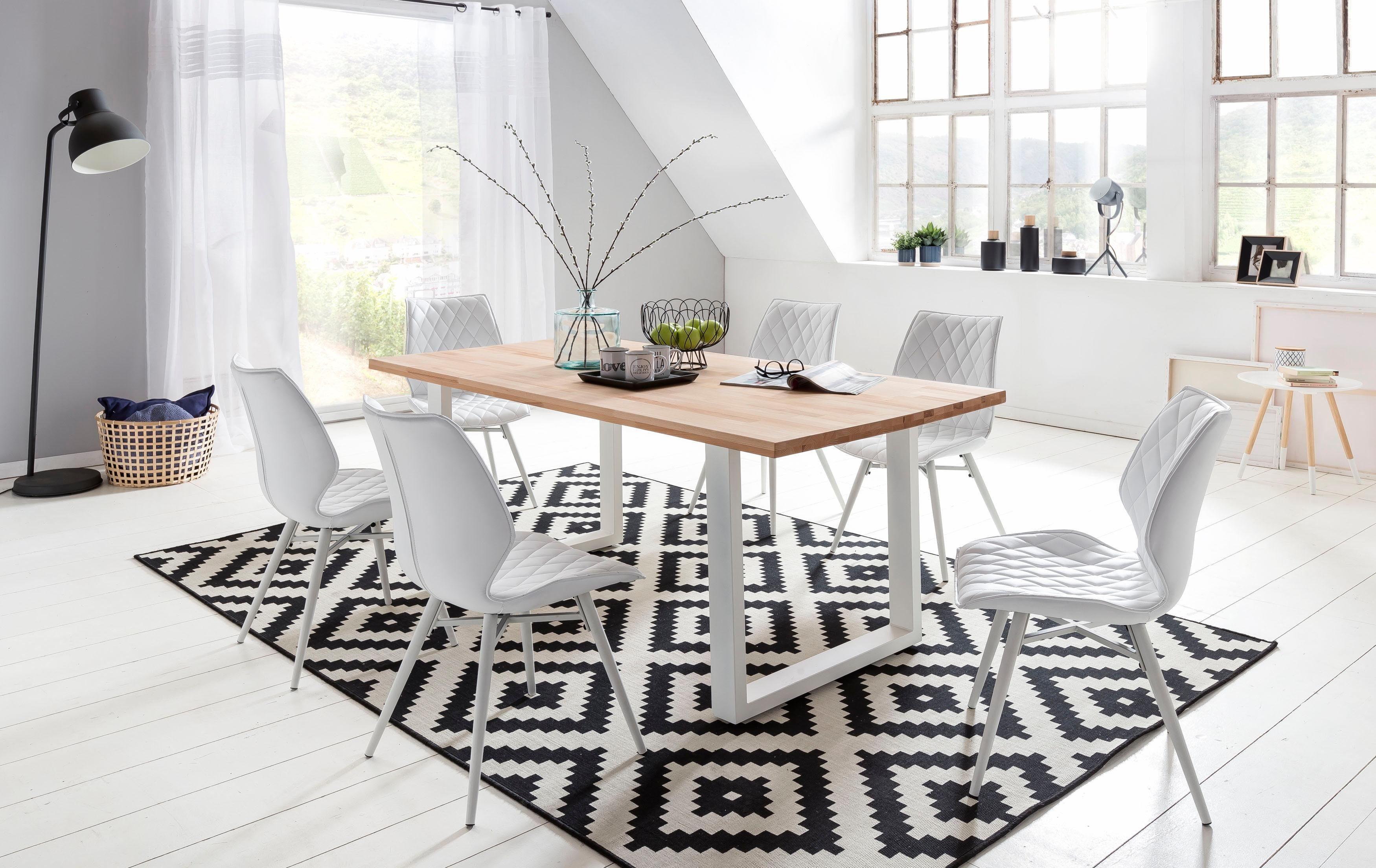 Eettafel wit hout daan