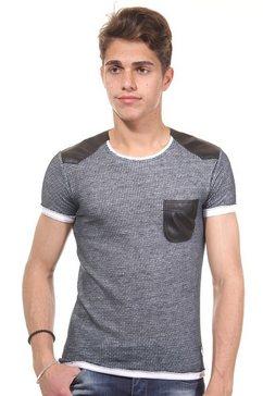 r-neal t-shirt met ronde hals, slim fit grijs