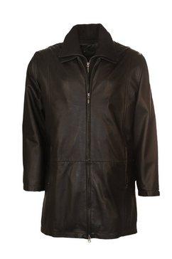 jcc leren mantel met aangenaam ruime zakken »christine« zwart