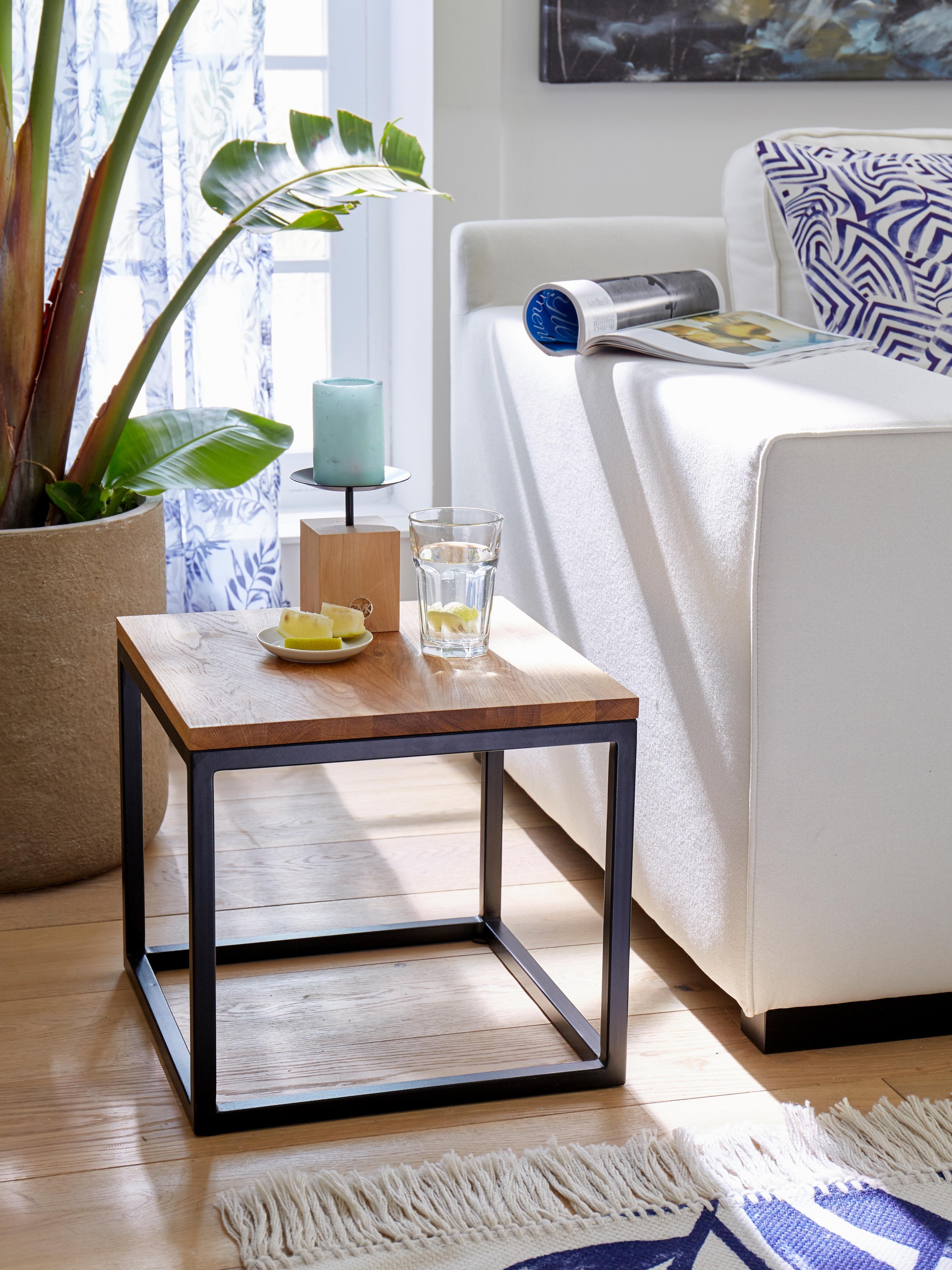 Op zoek naar een Guido Maria Kretschmer Home&Living salontafel Voorst van massief eiken en metalen frame? Koop online bij OTTO