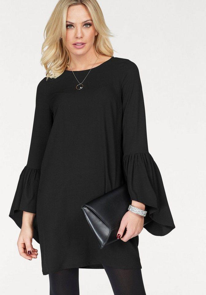 Vero Moda geweven jurk BALI FLOUNCE zwart