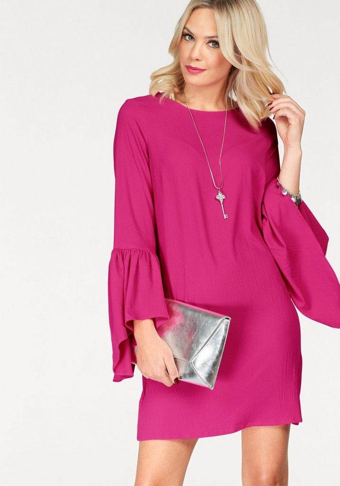 Vero Moda geweven jurk BALI FLOUNCE rood