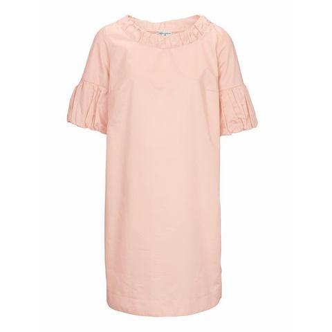 jurk met ronde hals roze