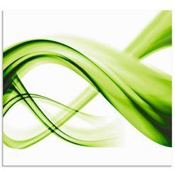 artland keukenwand abstrakte komposition (1-delig) groen