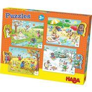 haba puzzel, 4x15 delen, »jaargetijden« multicolor