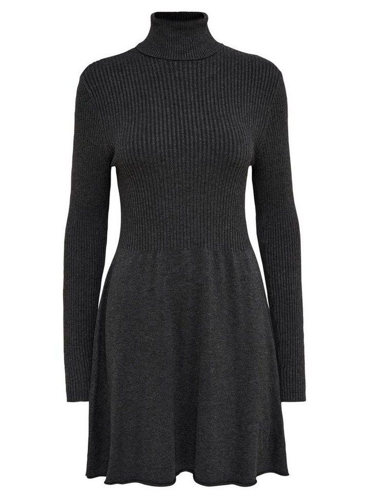 ONLY Roll-neck gebreide jurk grijs