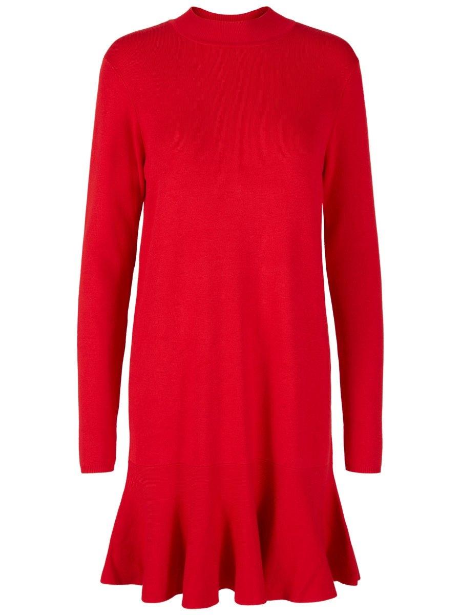 Rode jurk lange mouw