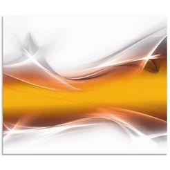 artland keukenwand kreatives element (1-delig) goud