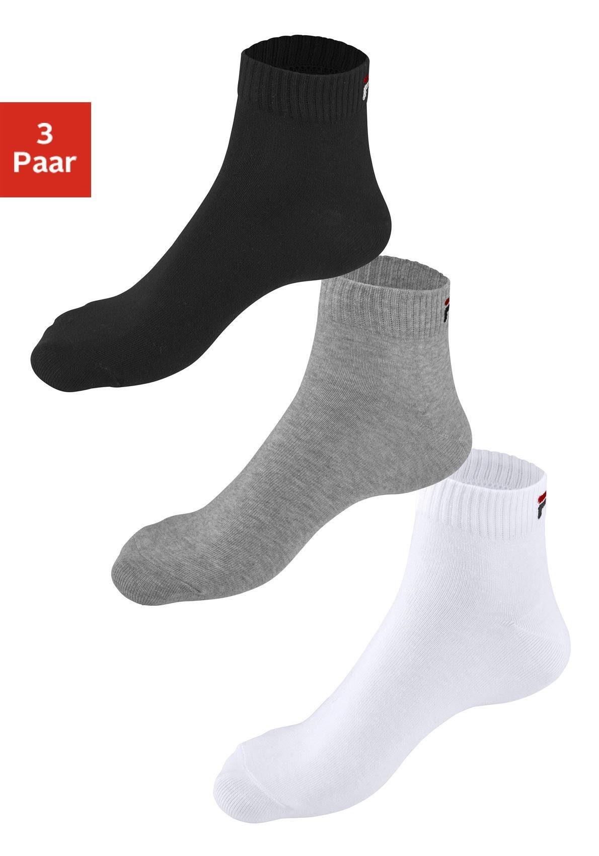 korte uniseks sokken (set van 3 paar)