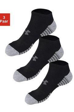 under armour sneakersokken (3 paar) met anatomische verdikking zwart