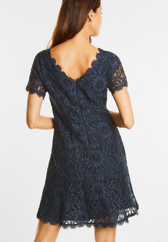 Street One jurk van bloemenkant Rania blauw