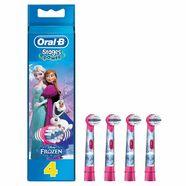 oral-b opzetborsteltjes stages power, met figuren uit disneys »frozen«, set van 4 blauw