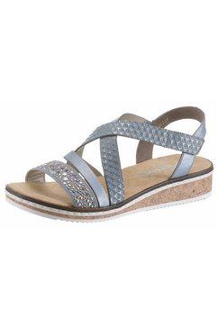 rieker sandaaltjes met kleine stretchinzet blauw