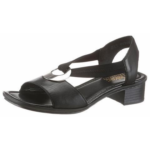 RIEKER Sandaaltjes met 3,5 cm hoge hak