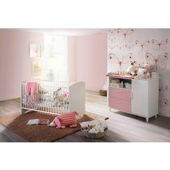 rauch select babymeubelset nizza bed + commode (voordeelset, 2 stuks) roze