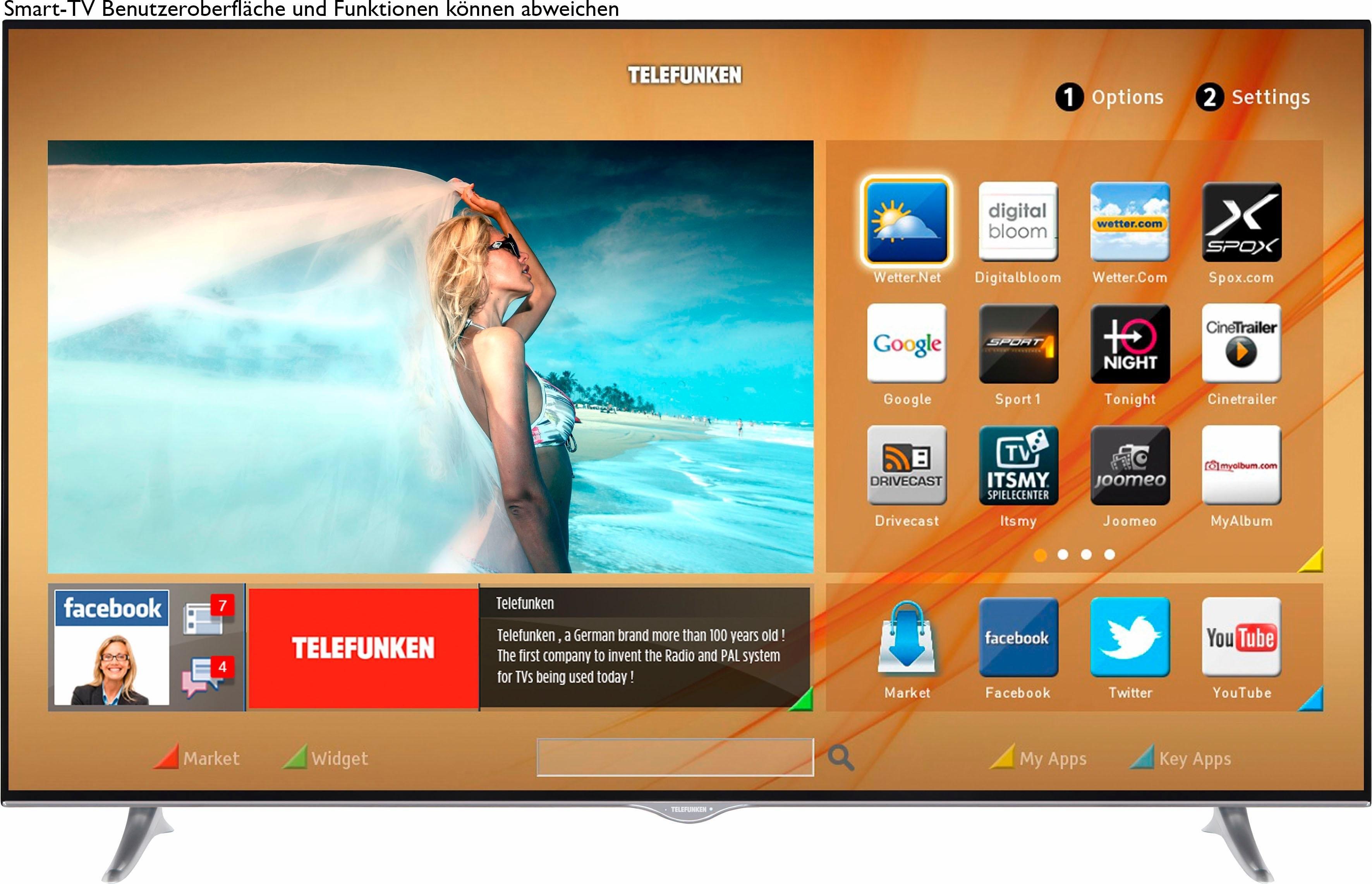 telefunken d65u600m4cw led tv 165 cm 65 inch 4k ultra hd smart tv online bij otto. Black Bedroom Furniture Sets. Home Design Ideas
