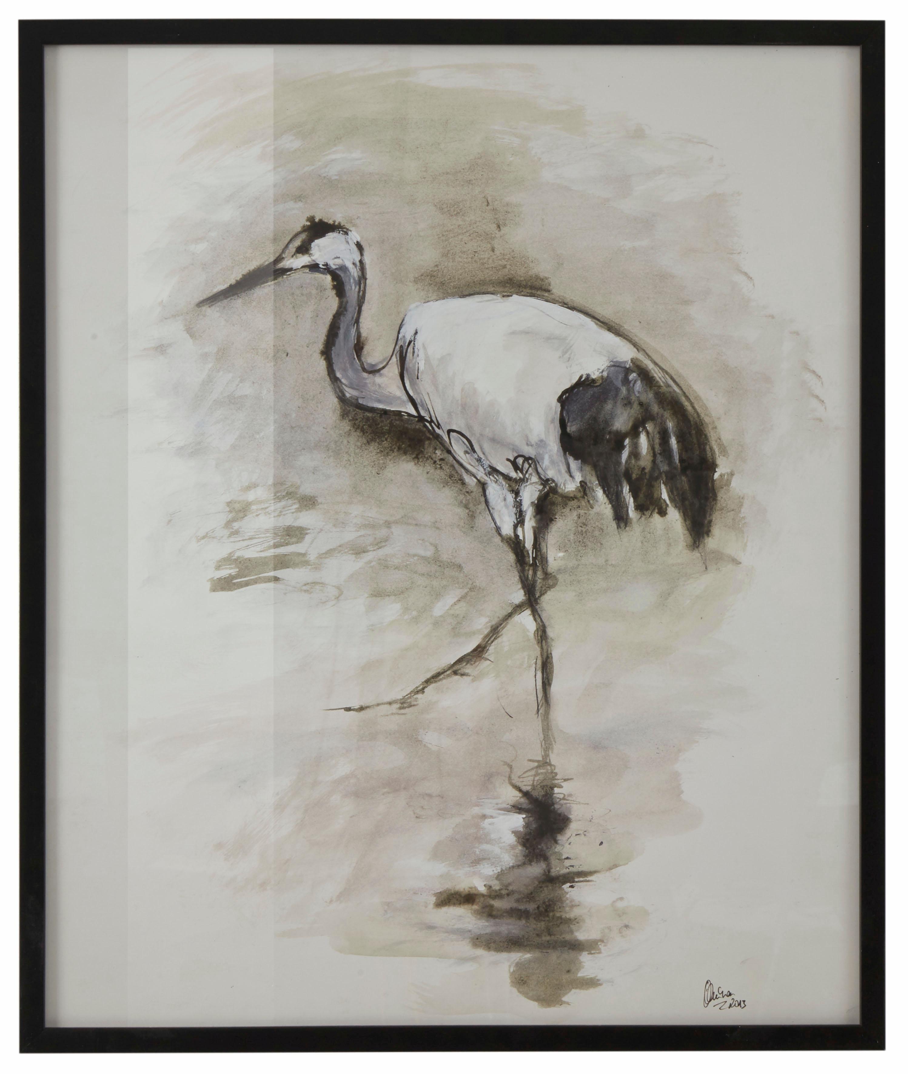 Guido Maria Kretschmer Home&Living wanddecoratie Kraanvogel door frank mutters nu online bestellen