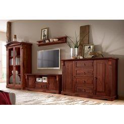 home affaire 4-dlg. wandmeubel »anna« in 3 kleuren bruin