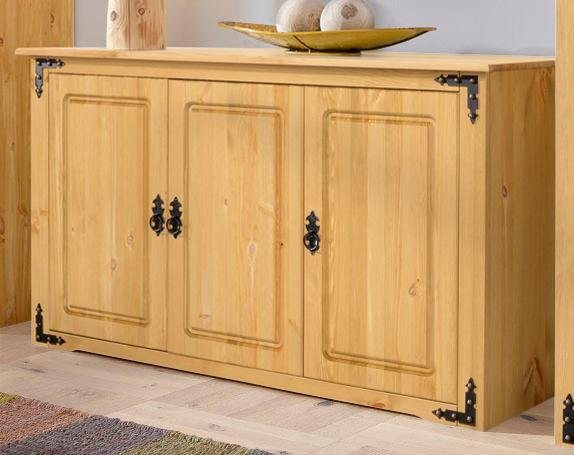 HOME AFFAIRE dressoir New Cheap, breedte 131 cm, met metalen beslag