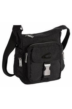 camel active schoudertas journey crossbody bag, ideaal voor festival of concert zwart