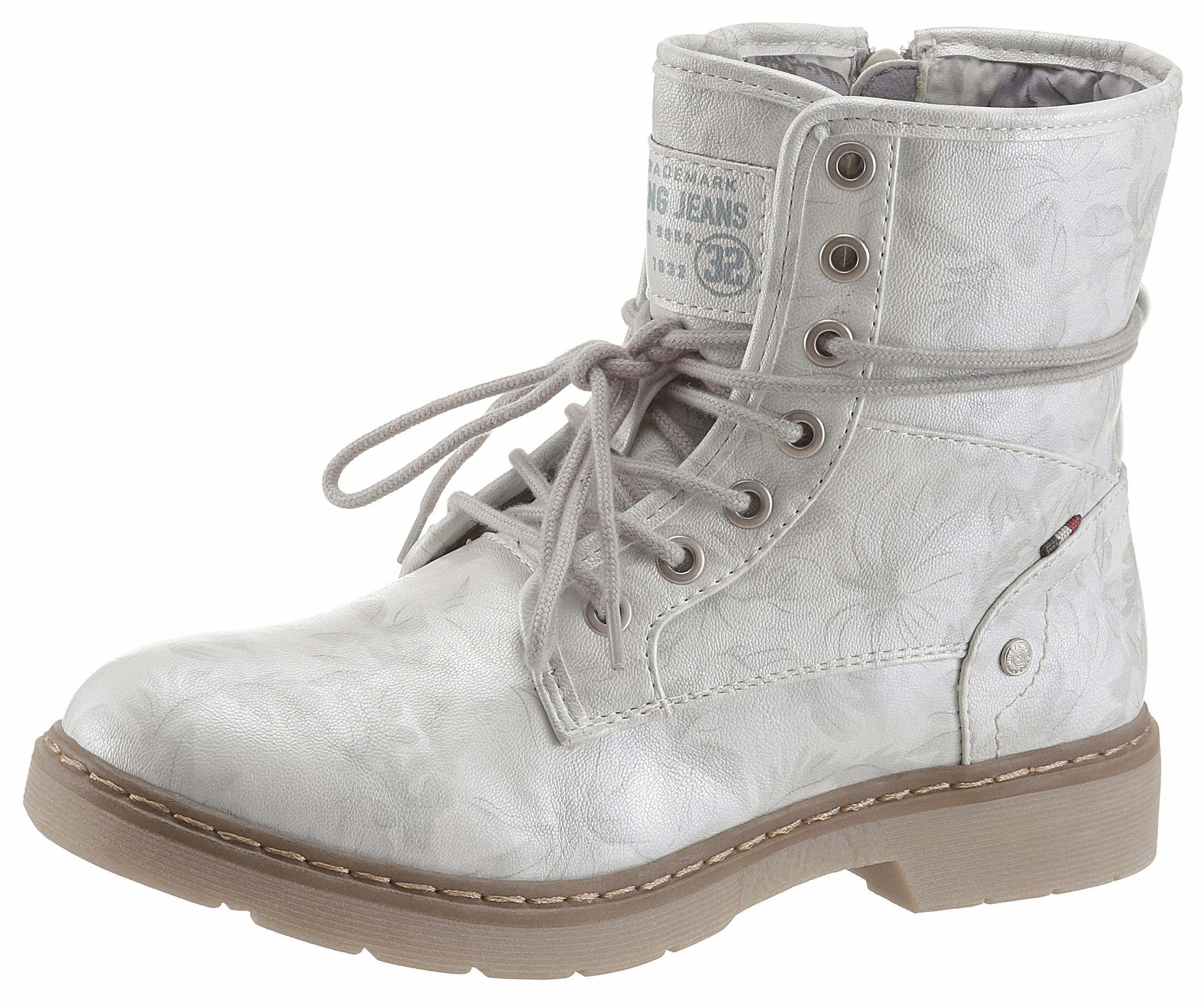 Chaussures Botte Blanche Mustang Mustang dJNFt9