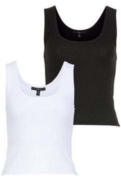 mavi jeans tanktop (set, set van 2) wit