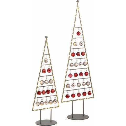 OTTO Kerstboom van metaal in verschillende afmetingen, incl. glazen ballen en micro-ledlichtsnoer