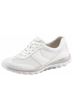 gabor rollingsoft sneakers met sportieve mesh-inzet wit