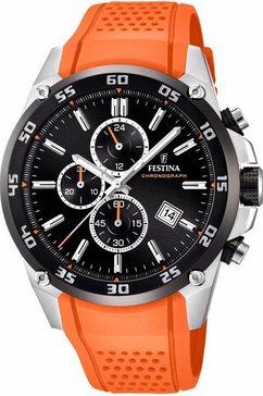 festina chronograaf »f20330-4« oranje