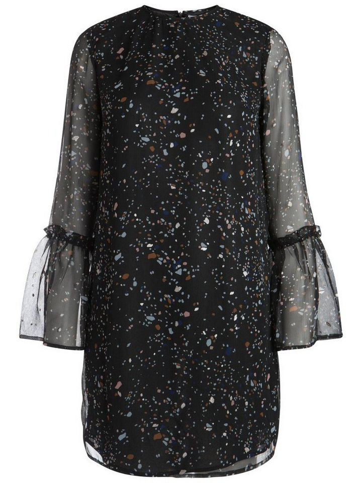 Pieces Klassieke bedrukte jurk zwart