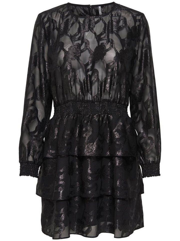 ONLY Lange mouw Korte jurk zwart