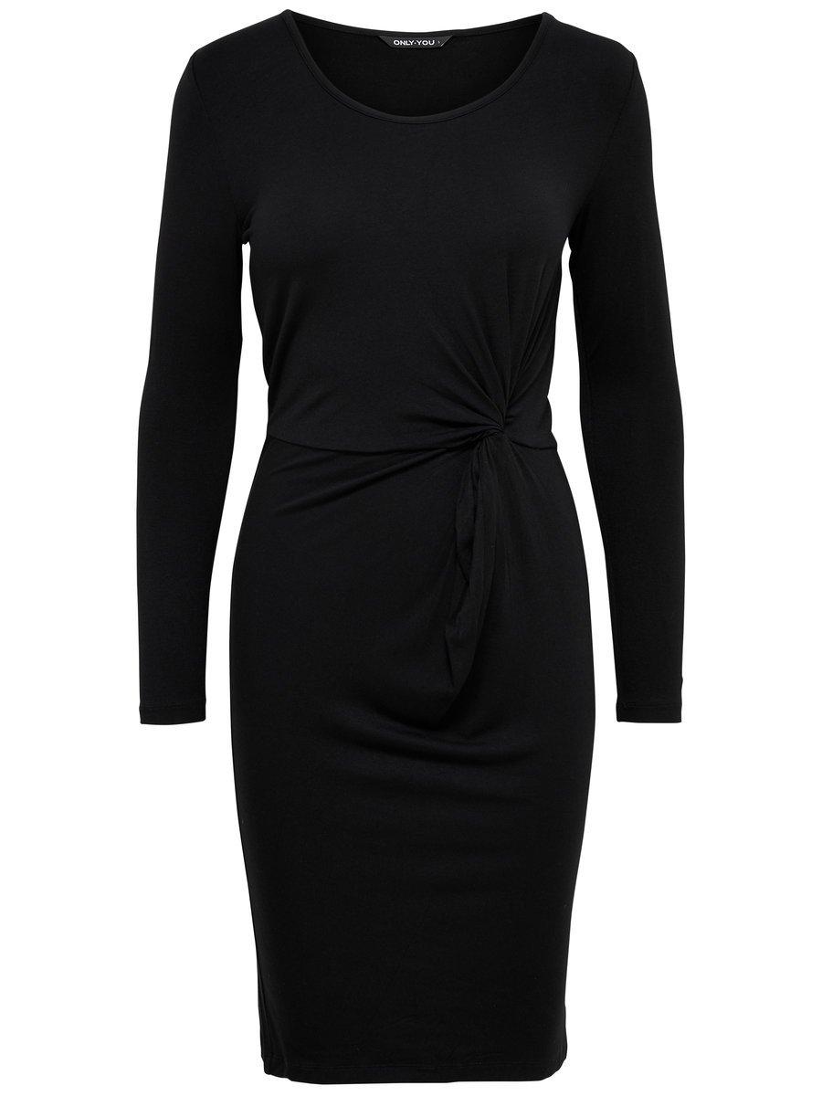Only lange zwarte jurk