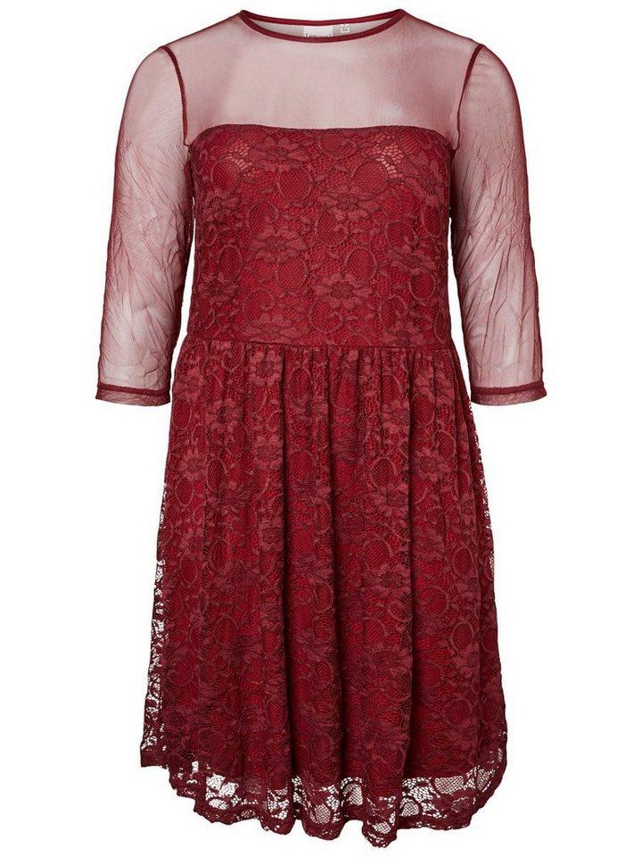 Junarose kanten jurk paars