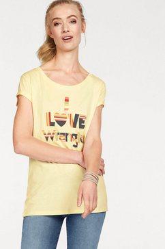 wrangler t-shirt geel