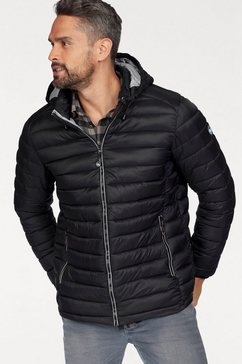polarino gewatteerde jas zwart