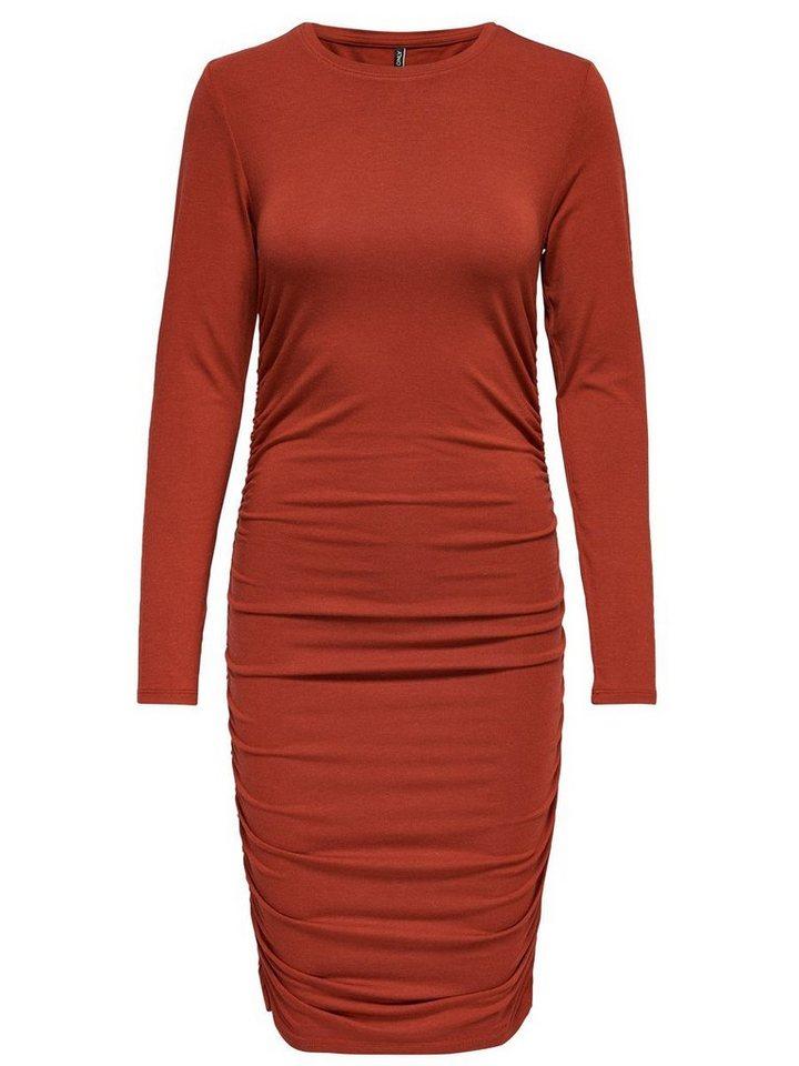 ONLY Gedetailleerde jurk met lange mouwen rood