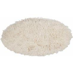 hoogpolig vloerkleed, »flokos 2«, theko exklusiv, rond, hoogte 63 mm, met de hand geweven beige