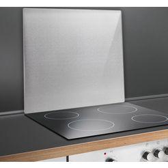 wenko keukenwand met dubbelzijdige kleefpads (1-delig) zilver
