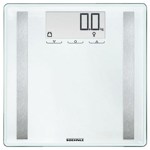 Soehnle Shape Sense Control 200 Electronic personal scale Vierkant Wit