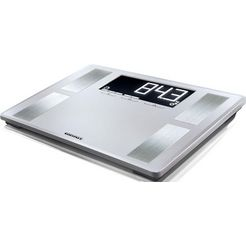 soehnle personenweegschaal pwd shape sense profi 200, hoogwaardige lichaamsanalyseweegschaal zilver