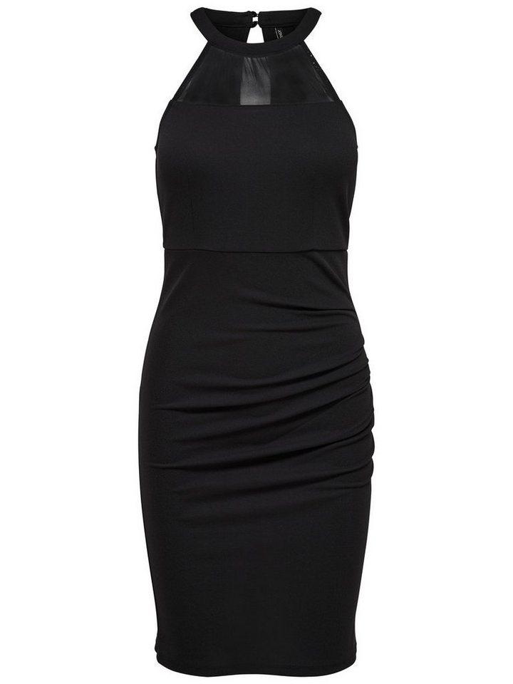 ONLY Mesh Mouwloze jurk zwart