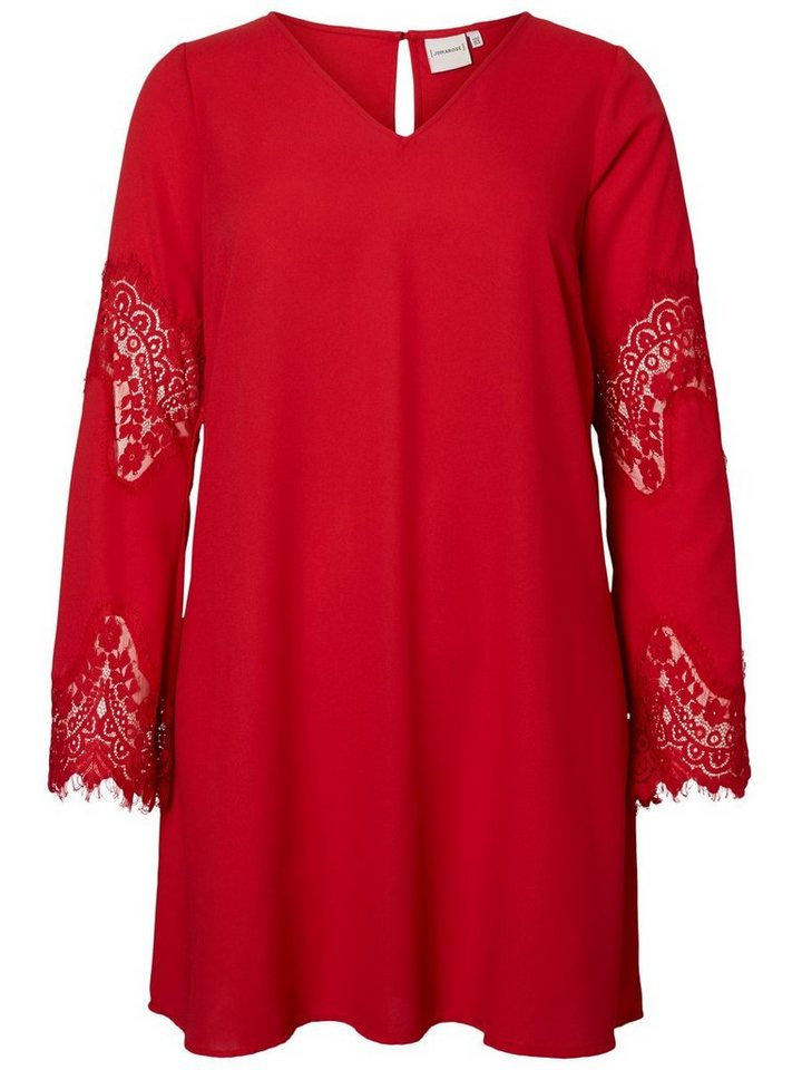 Junarose Geweven jurk rood