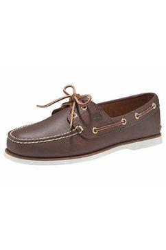 timberland bootschoenen »men's 2 exe boat shoe« bruin